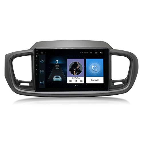 Para Kia Sorento 2015 Androide Radio Coche Estéreo Navegacion GPS Unidad Principal Pantalla IPS HD 9' Soporte Pantalla Dividida Imagen Inversa Reproductor Multimedia BT SWC WIFI