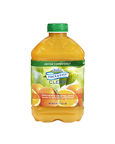 Thick & Easy Clear Thickened Orange Juice, Nectar Consistency, 46 Ounce (Pack of 6)