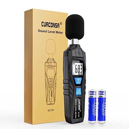 Fonometro, CURCONSA Misuratore Decibel, da 30dB a 130dB, display LCD, può essere...