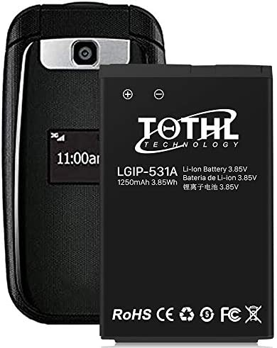 1250mAh Chargeable Replacement Battery for LG LGIP-531A/LGIP-531 KG280 KF310 KU250 Smartphone