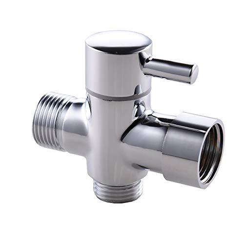 Válvula Direccional Con Vástago Adaptador de grifo de 3 vías para accesorio de manguera,conector de grifo para la válvula de desvío de la desviación de agua. Válvula Desviadora De Ducha De Latón