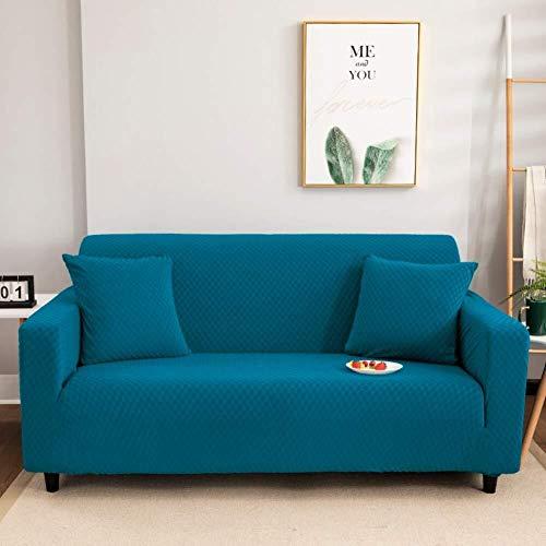 ZHENYUE Solid Color Sofa Slipcover Protector Voor Lederen Bank, Niet Slip 1 Stuk Sofa Cover Stretch Universele Stoelhoes Met Bandjes-grijze Sofa