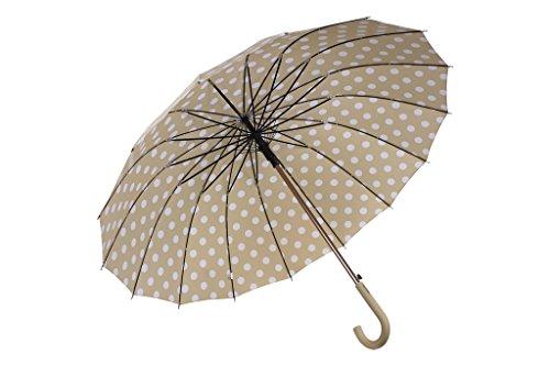 COFAN 80010605 dames paraplu beige Mod Leysan diameter 110 cm