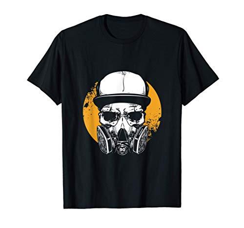 Hip Hop Hipster Popkultur Ikone Graffiti-Künstler Gasmaske T-Shirt