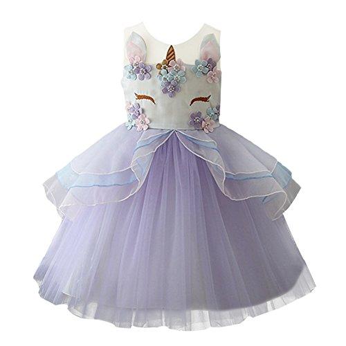 IBTOM CASTLE Vestido de Tutu Princesa Unicornio Arco Iris Fiesta de cumpleaños...