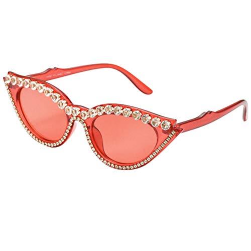PRETYZOOM Gafas de Sol de Gato de Cristal Moda Vintage Rhinestone Brillante...