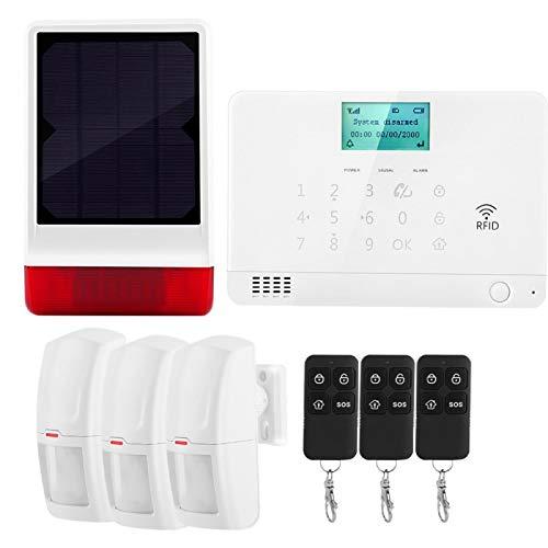 FOLOSAFENAR Control con un botón Muchos Modos de implementación ABS + Pmma Kit de Alarma inalámbrica para el hogar(European Standard (110-240V))