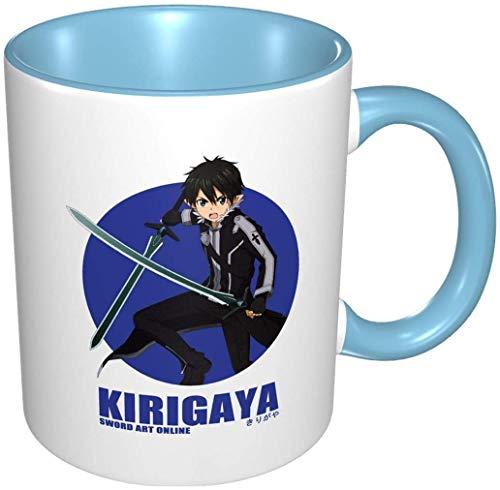 Bernice Winifred Anime 3d Muster Kirigaya Kazuto Schwert Kunst Keramik Kaffeetassen-Himmelblau