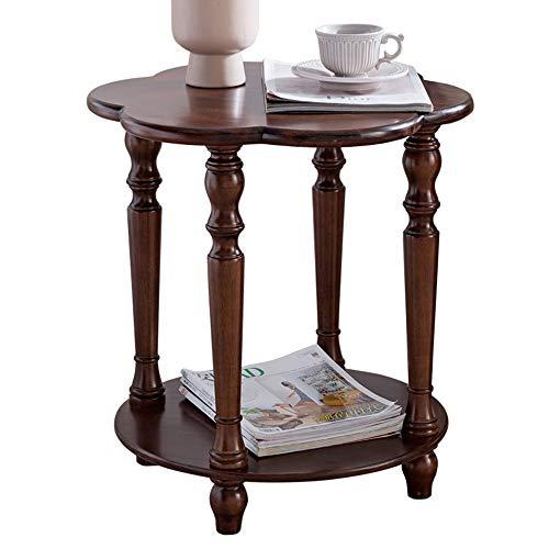 F-S-B Bijzettafel massief hout slaapkamer nachtkastje woonkamer kleine ronde tafel hoekbank kleine theetafel