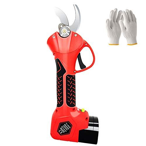 16.8 V / 21V Cizallas eléctricas de poda, batería de litio recargable Profesional Cercura eléctrica inalámbrica, tijeras de poda de litio de mano inalámbrica, for jardinería (guantes enviados)
