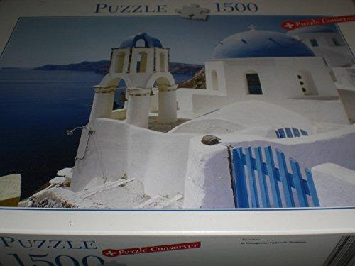 Blatz Puzzle 1500 Teile - Santorin mit Puzzle Conserver