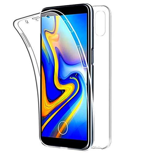 TBOC Funda para Samsung Galaxy A70 A705FD [6.7 Pulgadas] - Carcasa [Transparente] Completa [Silicona TPU] Doble Cara [360 Grados] Protección Integral Total Delantera Trasera Lateral Móvil