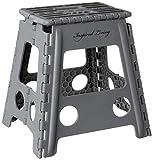Inspired Living Step Heavy Duty folding-stools, 16' High, DARK GREY