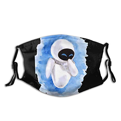 Wall-E Eve Adult dust mask Unisex Washable and Reusable Face Protection for Outdoor Activities Black