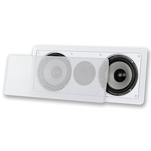 Acoustic Audio CS-IW26CC 250 Watts in-Wall Dual 6.5-Inch Center Channel Speaker, White