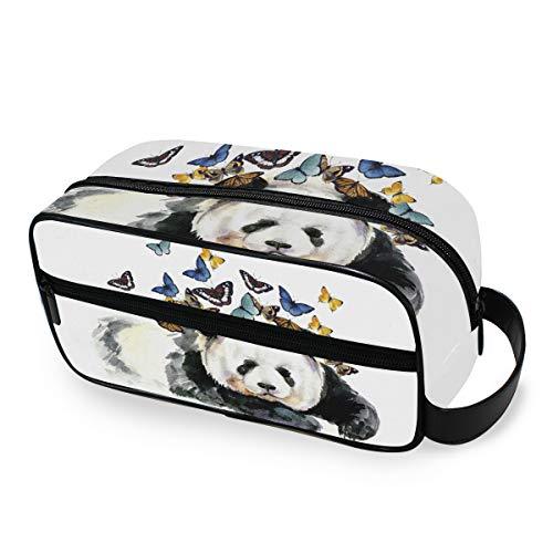 Maquillage Sac Cartoon Animal Panda Papillon Trousse De Toilette Voyage De Stockage Filles Portable Outils Cosmétique Train Case