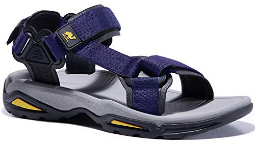 CAMEL Sport Sandals for Men Strap Athletic Shoes WaterproofHiking Sandals for Walking Beach Outdoor Summer Navy Blue