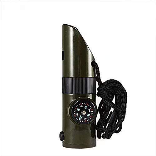 Sifflet de survie multifonctions avec lampe de poche 7 en 1 Sifflet de sauvetage pour les activités sportives