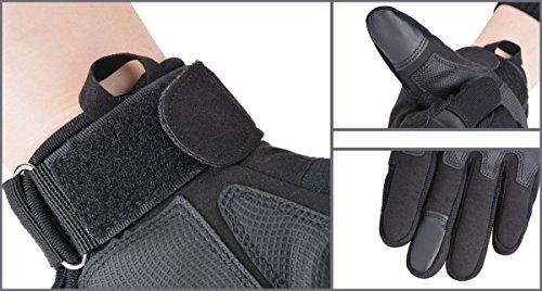 Coofit Taktische Handschuhe Winter Motorrad Handschuhe Herren Vollfinger Army Gloves Biking Skifahre Handschuhe (Schwarz, XL) - 2