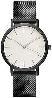ساعة ساوث لاين سويسرية كوارتز بسوار جلد عجل, اسود 20 (الموديل: SS20-dr1-4816)