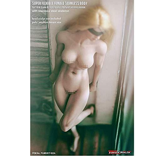 YYSDH 1/6 weiblich Super Flexible Seamless Körper Pale Action-Figur, Super Flexible Puppen für Kunst/Zeichnungen/Fotografie (S22A)
