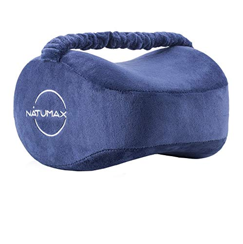 NATUMAX Knee Pillow for Side Sleepers - Sciatica Pain Relief - Back Pain, Leg Pain, Pregnancy, Hip and Joint Pain Memory Foam Leg Pillow (Pillow+Sleep Mask and Ear Plugs)