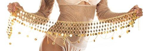 Cintura di monete per la danza del ventre #1 tonalità dorate