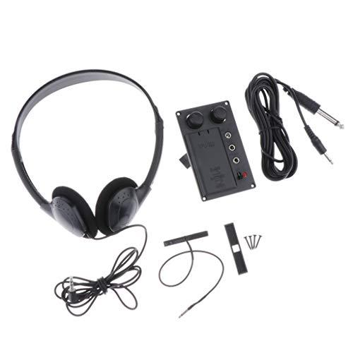 Violine Soundhole Pickup EQ-Tonabnehmer Kit für Violine Geigen Zubehör, mit Kopfhörer und Steckerlochkabel