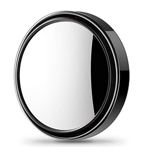 Ashley GAO Espejo redondo pequeño para coche 360 grados ajustable espejo retrovisor punto ciego super claro auxiliar invertido gran angular reflectante