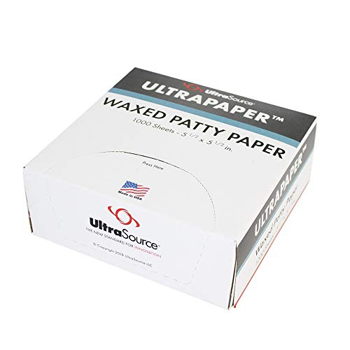 "UltraPaper Hamburger Patty Paper, 5.5"" x 5.5"" Squares (Pack of 1000)"