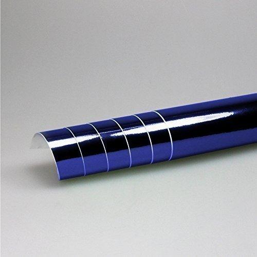 TipTopCarbon 16,45€/m² Chrom Autofolie Blau 0,3m x 1,52m Auto Folie mit Luftkanälen 3D Flex