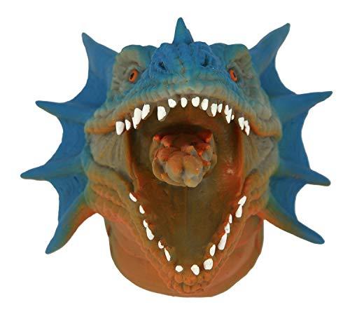 Depesche- Marioneta de Mano de dragn, Dino World, Aprox. 15,5 x 1,5 x 12 cm,, Material plstico Suave, elstico, sin ftalatos (7699)