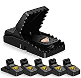 JOLVVN Mouse Trap, Outdoor Indoor Humane Rat Traps Power Rodent Killer 100% Mouse Catcher for Small Mice, Mouse (6 Pack)