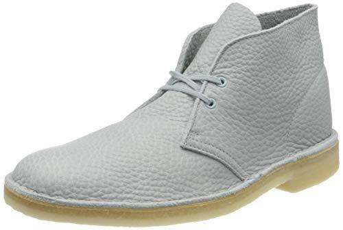 Clarks, Stivali Desert Boots Uomo, Blu (Light Blue Lea Light Blue Lea), 43 EU