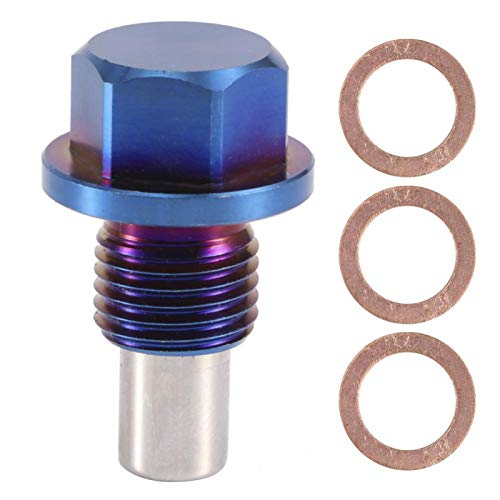 Tapones magnéticos de drenaje de aceite Aleación de aluminio Cárter de aceite del motor Cárter de aceite Tapón de drenaje de retorno Adaptador de montaje de tapón(M12*1.5)