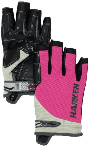 Harken Sport Spectrum 3/4 Finger Gloves, Pink, Medium