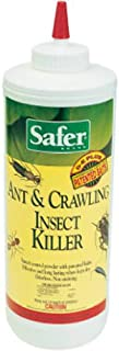 Safer Brand 5168 Diatomaceous Earth Powder Ant, Crawling Insect and Bed Bug Killer, 7 Ounces