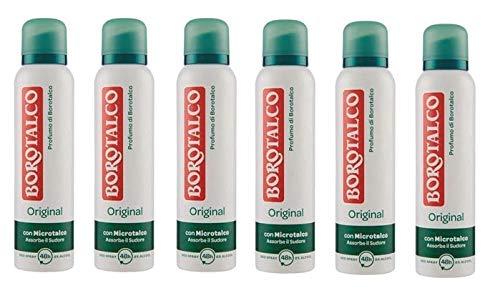 6x BOROTALCO ROBERTS deo spray deodorant Original Fresh 150 ml ohne Alkohol