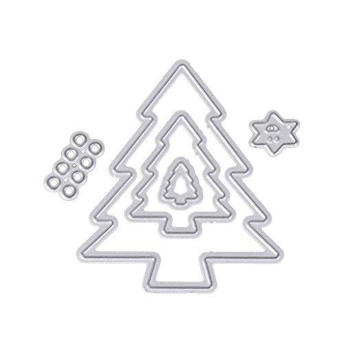 Hothap Lichte mooie kerstboom stansvormen sjablonen DIY scrapbook album reliëfkaart voor unisex