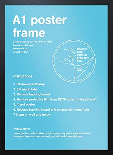 Holzbilderrahmen, A1, 59,4x84,1cm, 1 Stück schwarz