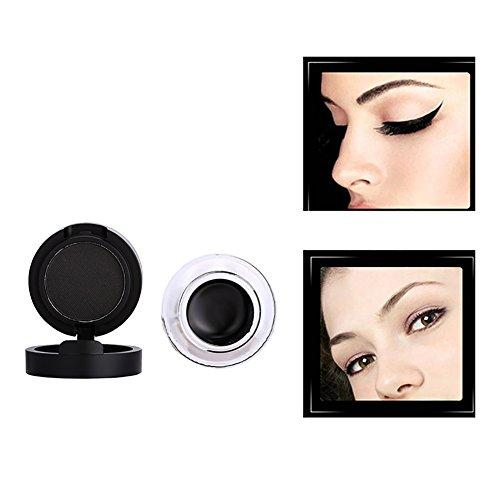 ESHOO 2 et 1 Gel Eyeliner Powder Séchage rapide Etanche Facile à porter Outils de maquillage pour les yeux