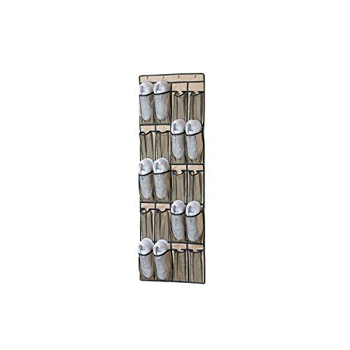 Organize It All Over The Door 20 Breathable Mesh Pocket Shoe Organizer