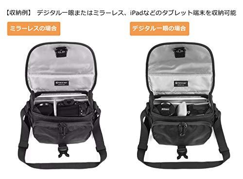 【国内正規品】 tamrac カメラバッグ ラリー 4 v2.0 カメラショルダー ブラック 小型一眼/ミラーレス収納 4.0L T2444-1915