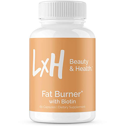LxH Biotin Fat Burner Supports Healthy Weight Loss - Appetite Suppressant with Biotin 5000mcg, Apple Cider Vinegar and Green Tea Extract - Belly Fat Burner for Women and Men - 60 Vegetarian Capsules