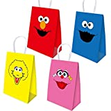 16pcs Elmo Party Bags Goody Favor Bags Elmo Birthday Party Supplies Kids Adults for Sesame Street Themed Party Supplies Favors