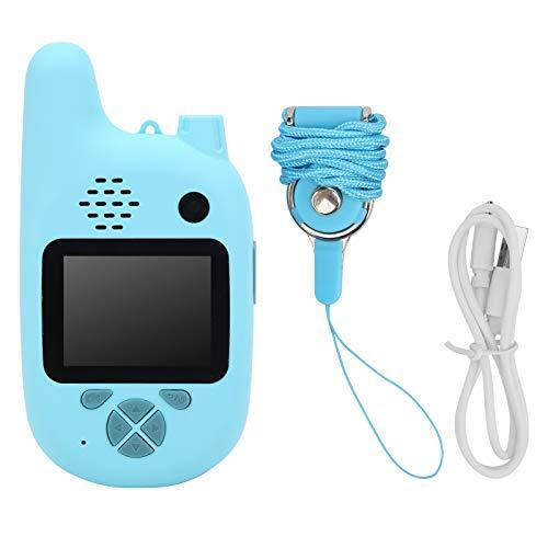 Deror Walkie Talkie inalámbrico para niños, Mini Reproductor de MP3 de Regalo de Juguete de videocámara de cámara de Video Digital 720P