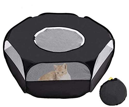 FPLX Small Animal Playpen Foldable Pet Cage Tent for Hamster, Kitten, Bunny, Rabbits, Guinea Pig, Chinchilla