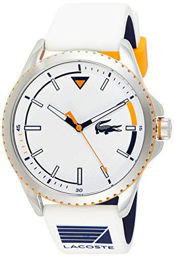 Lacoste Herren Analog Quartz Uhr mit Gummi Armband 2011028