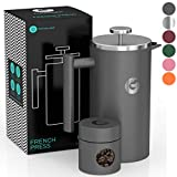 French Press Coffee Maker by Coffee Gator - Hotter-For-Longer Thermal Brewer - Plus Travel Jar -...