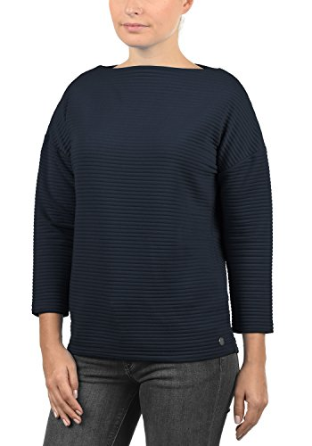 DESIRES Jona Damen Sweatshirt Pullover Sweater Mit U-Boot-Ausschnitt Und 7/8 Arm, Größe:XL, Farbe:Insignia Blue (1991)